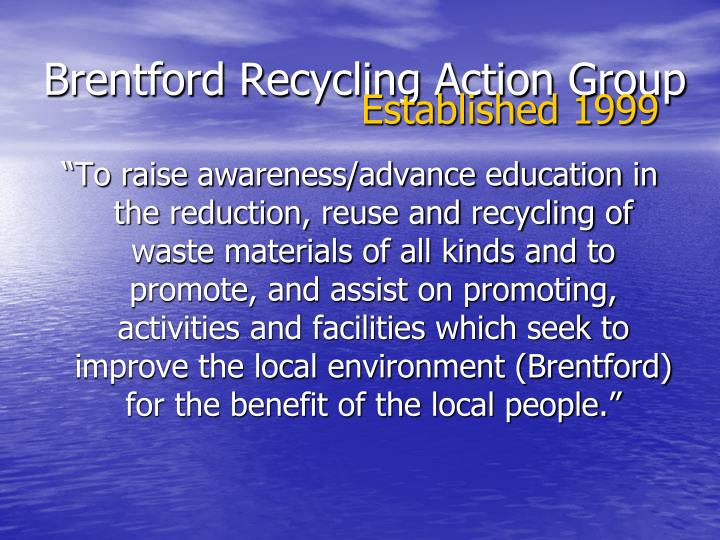 Brentford recycling action group