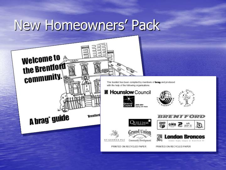 New Homeowners' Pack