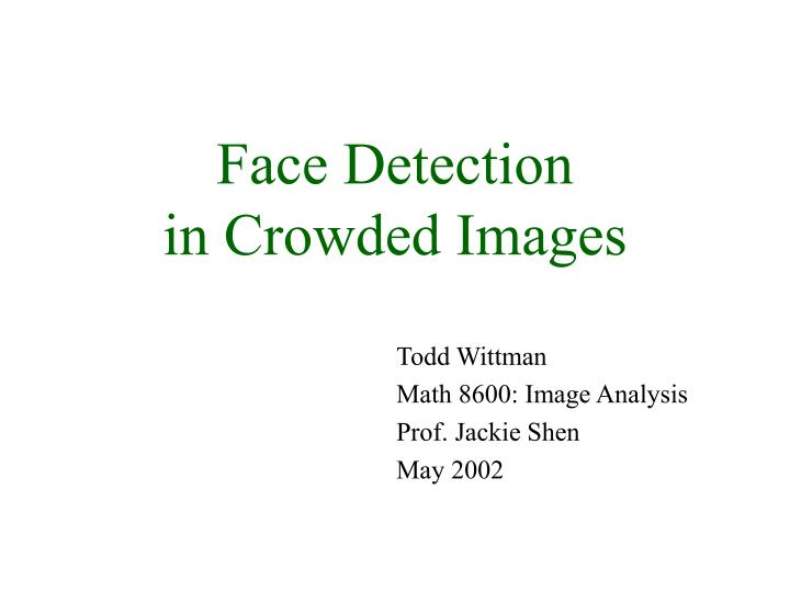 face detection in crowded images n.