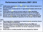performance indicators 2007 20101