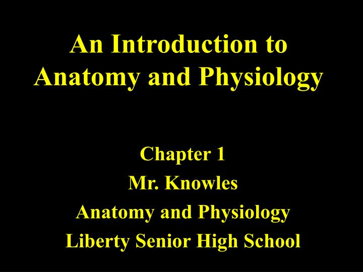 an introduction to anatomy and physiology n.