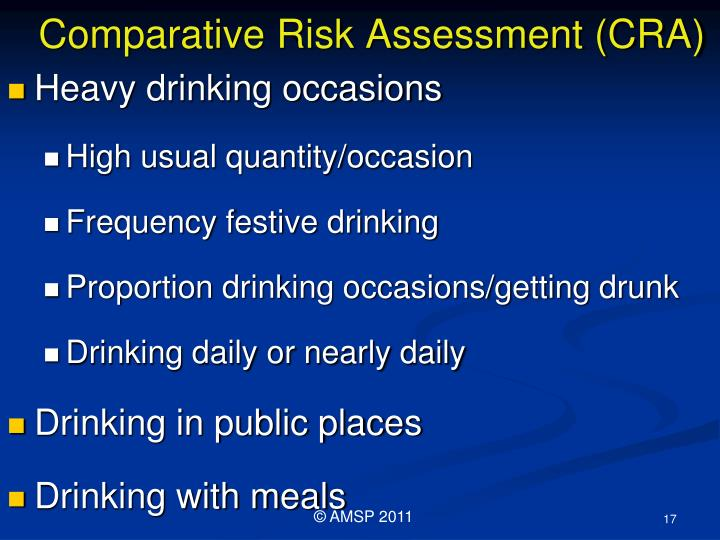 Comparative Risk Assessment (CRA)