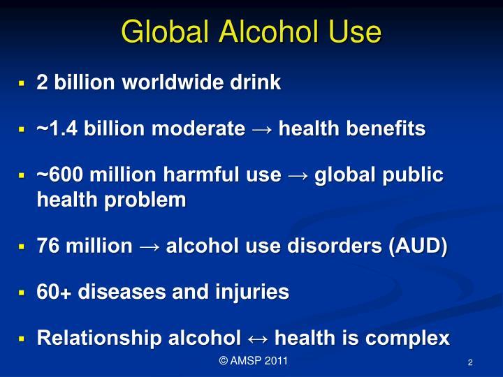 Global alcohol use