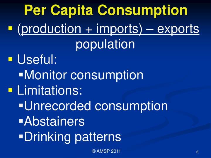 Per Capita Consumption