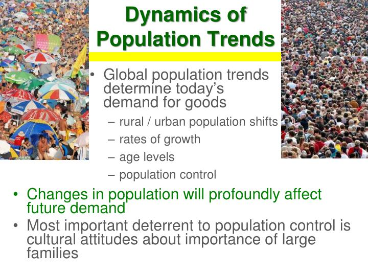 Global population trends determine today's demand for goods