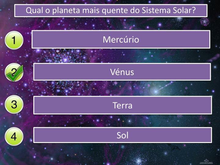 Qual o planeta mais quente do Sistema Solar?