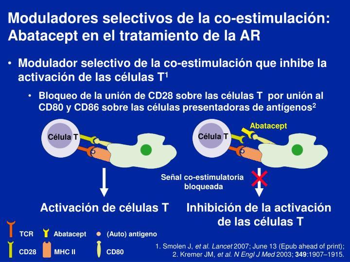Moduladores selectivos de la co-estimulación: Abatacept en el tratamiento de la AR