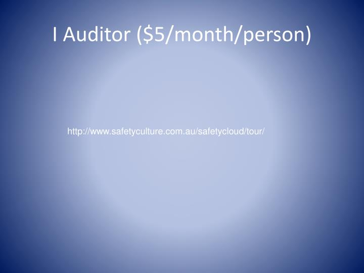 I Auditor ($5/month/person)