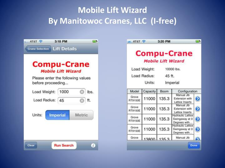 Mobile Lift Wizard