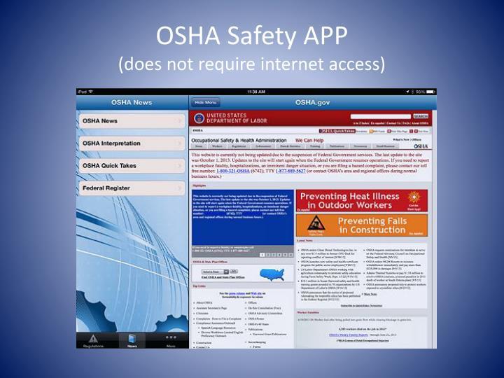 OSHA Safety APP