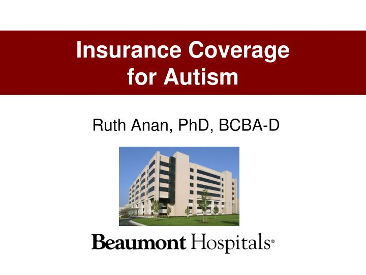 insurance coverage for autism n.