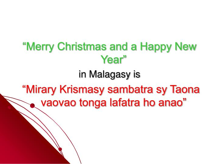 """""""Merry Christmas and a Happy New Year"""""""