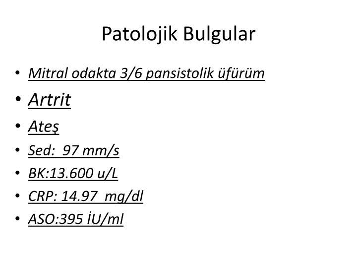 Patolojik Bulgular
