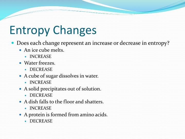 Entropy Changes