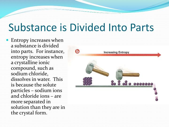 Substance is Divided Into Parts