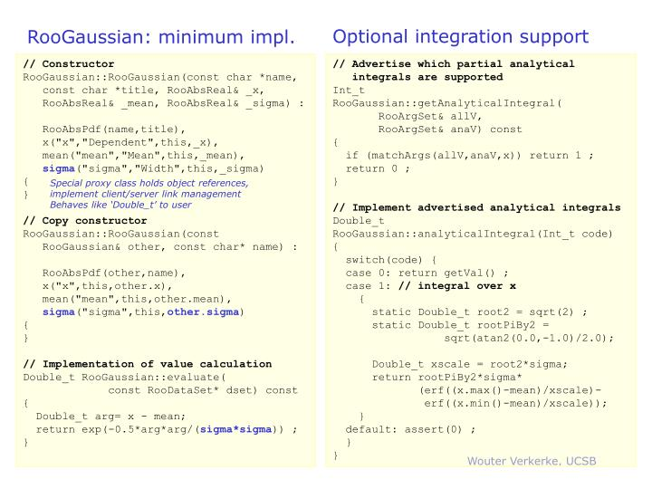 Optional integration support