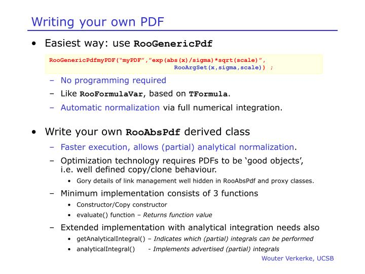 Writing your own PDF