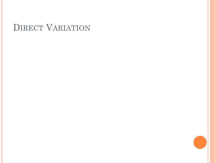 Direct variation1