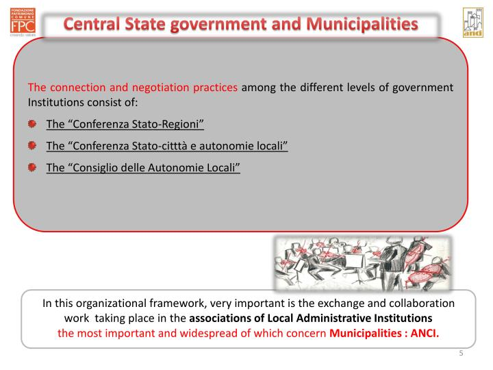 Central State government and Municipalities