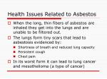 health issues related to asbestos