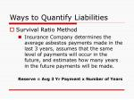 ways to quantify liabilities