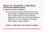 ways to quantify liabilities1