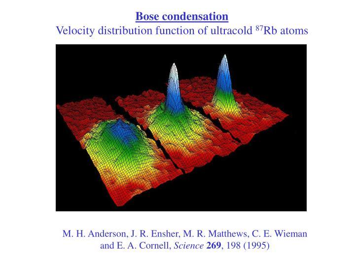 Bose condensation