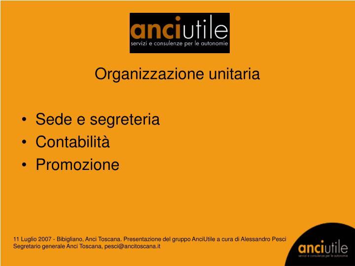 Organizzazione unitaria