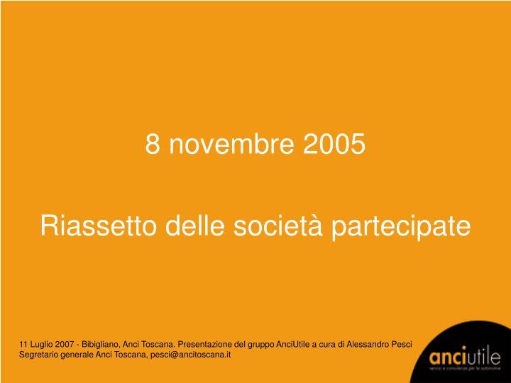 8 novembre 2005