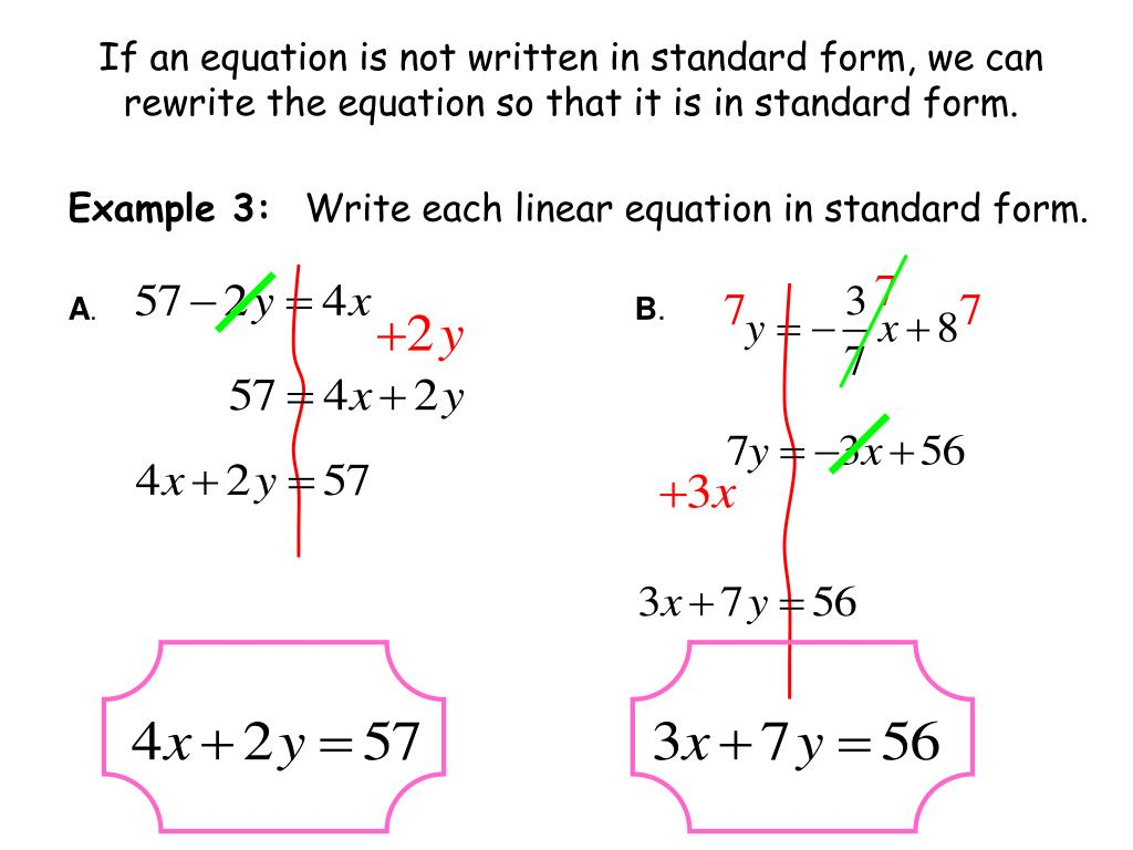 Standard Form Of A Linear Equation Examples   Tessshebaylo