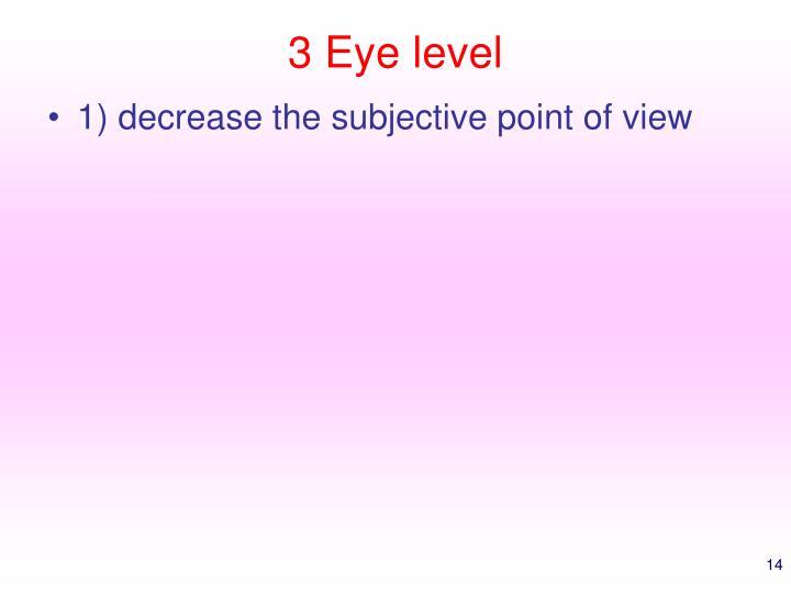 3 Eye level