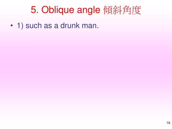 5. Oblique angle