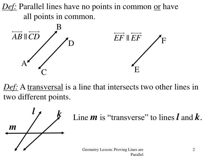 Def parallel