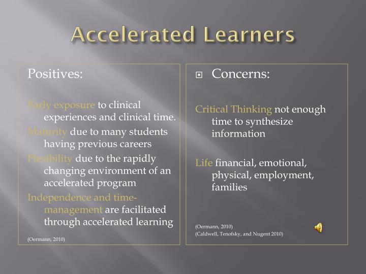 Accelerated Learners