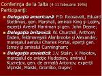 conferin a de la ialta 4 11 februarie 1945 participan i