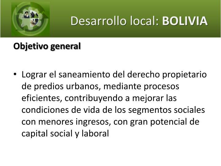 Desarrollo local: