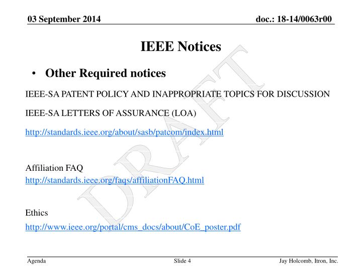 Other Required notices
