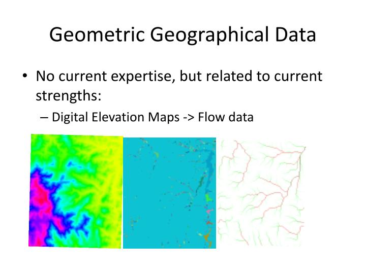 Geometric Geographical Data