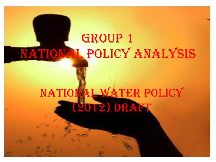 Group 1 national policy analysis