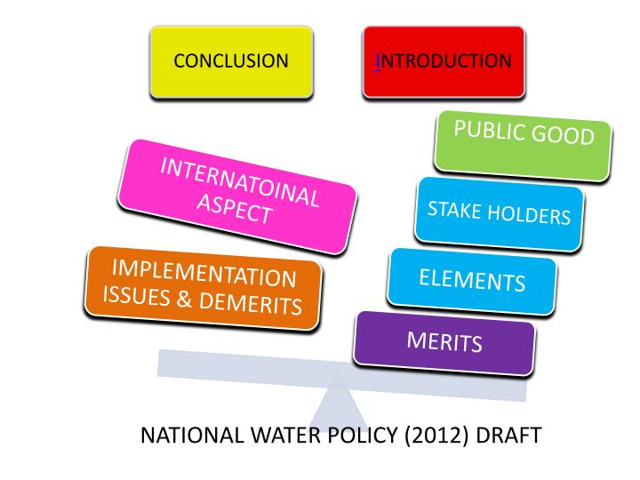 NATIONAL WATER POLICY (2012) DRAFT