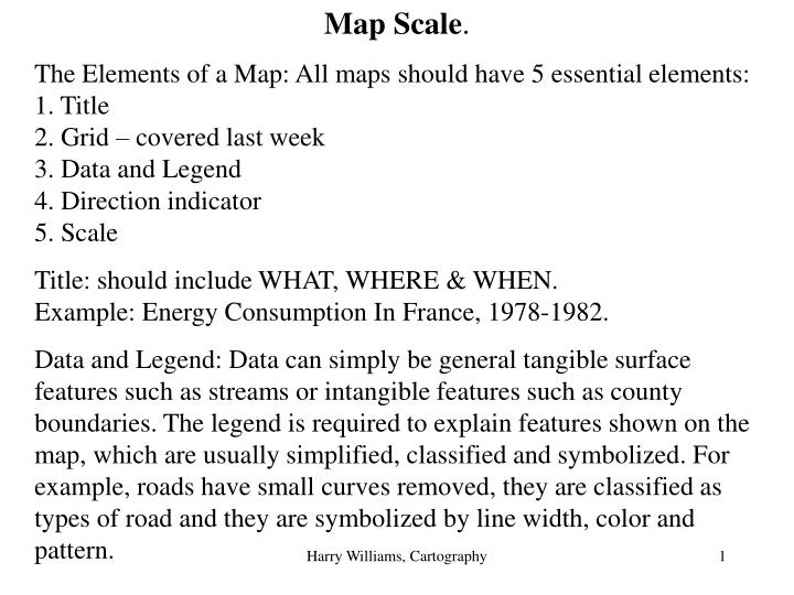 PPT - Map Scale   PowerPoint Presentation - ID:3944537