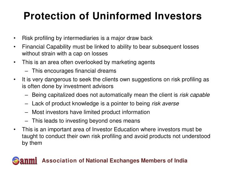 Protection of Uninformed Investors