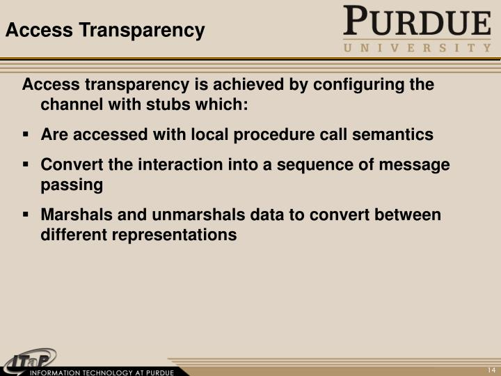Access Transparency