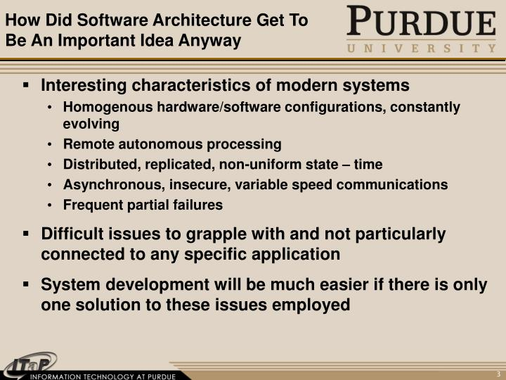 How did software architecture get to be an important idea anyway