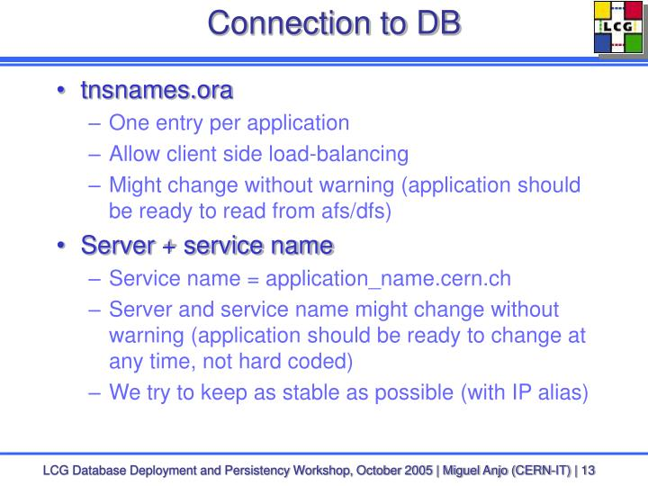 Connection to DB