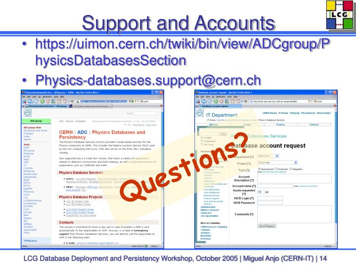 Support and Accounts