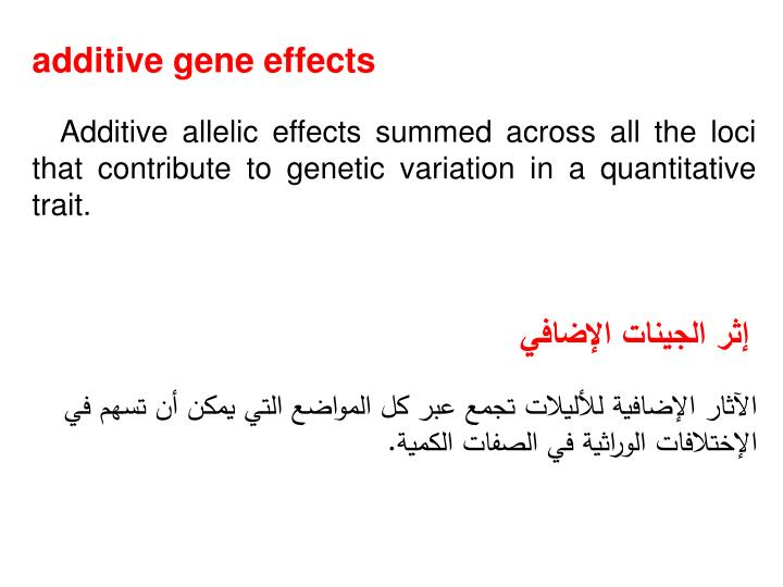 additive gene effects