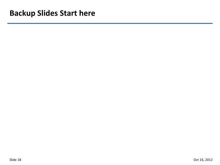 Backup Slides Start here