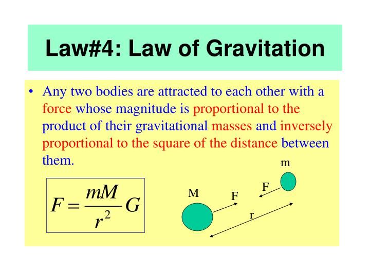 Law#4: Law of Gravitation