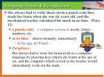language points paraphrases10